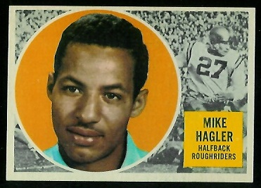 Mike Hagler 1960 Topps CFL football card