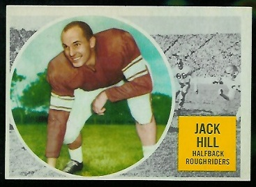 Jack Hill 1960 Topps CFL football card