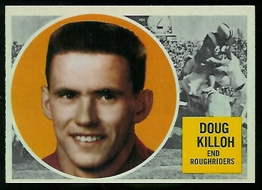 Doug Killoh 1960 Topps CFL football card