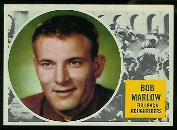 Bob Marlow 1960 Topps CFL football card