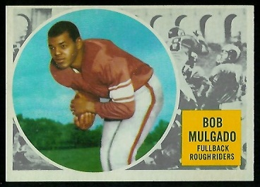 Bob Mulgado 1960 Topps CFL football card