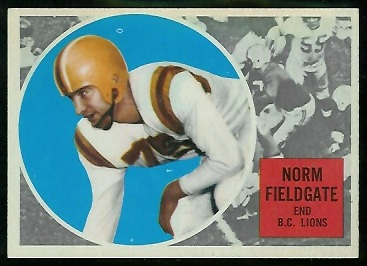 Norm Fieldgate 1960 Topps CFL football card