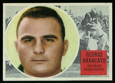 George Brancato 1960 Topps CFL football card