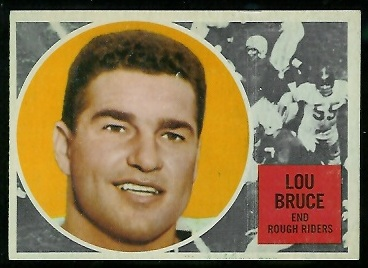 Lou Bruce 1960 Topps CFL football card