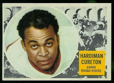 Hardiman Cureton 1960 Topps CFL football card