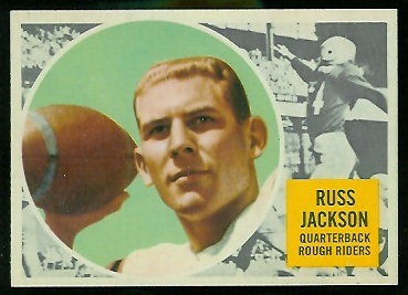Russ Jackson 1960 Topps CFL football card