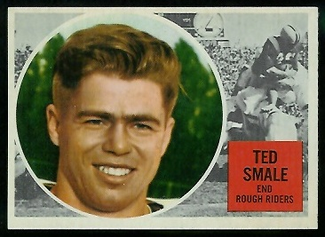 Ted Smale 1960 Topps CFL football card