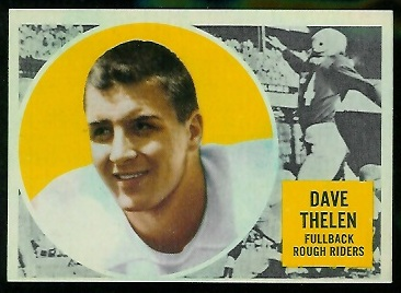 Dave Thelen 1960 Topps CFL football card