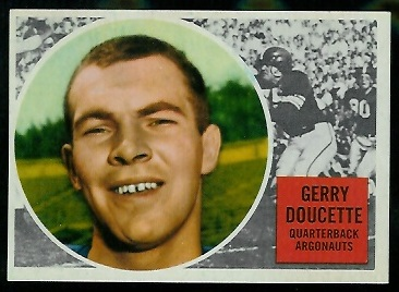 Jerry Doucette 1960 Topps CFL football card