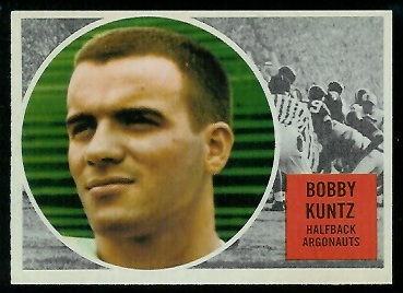 Bobby Kuntz 1960 Topps CFL football card