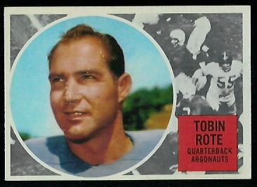 Tobin Rote 1960 Topps CFL football card