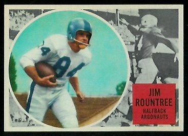 Jim Rountree 1960 Topps CFL football card