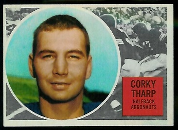 Corky Tharp 1960 Topps CFL football card