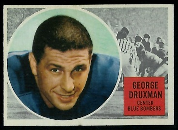 George Druxman 1960 Topps CFL football card