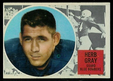 Herb Gray 1960 Topps CFL football card