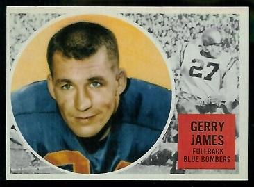 Gerry James 1960 Topps CFL football card