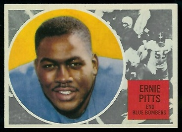 Ernie Pitts 1960 Topps CFL football card
