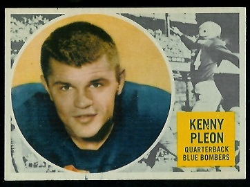 Ken Ploen 1960 Topps CFL football card