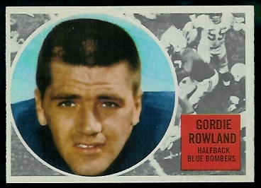 Gord Rowland 1960 Topps CFL football card
