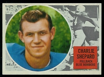 Charlie Shepard 1960 Topps CFL football card