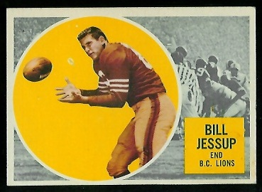 Bill Jessup 1960 Topps CFL football card