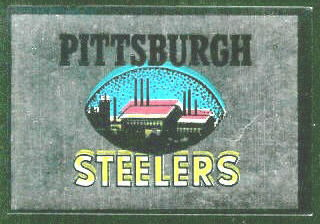 Pittsburgh Steelers 1960 Topps Metallic Stickers football card