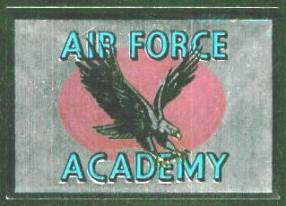 Air Force Academy 1960 Topps Metallic Stickers football card