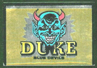 Duke Blue Devils 1960 Topps Metallic Stickers football card