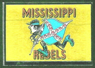 Mississippi Rebels 1960 Topps Metallic Stickers football card