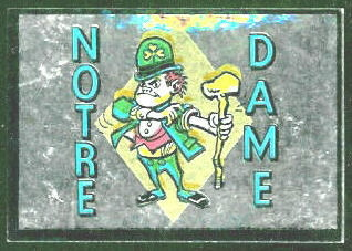 Notre Dame Fighting Irish 1960 Topps Metallic Stickers football card
