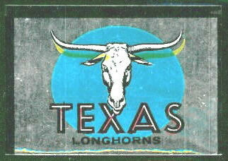 Texas Longhorns 1960 Topps Metallic Stickers football card