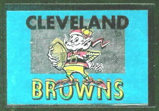 Cleveland Browns 1960 Topps Metallic Stickers football card