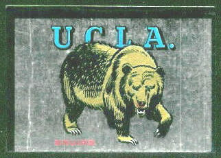 UCLA Bruins 1960 Topps Metallic Stickers football card