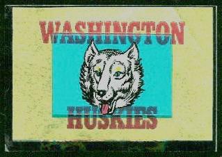 Washington Huskies 1960 Topps Metallic Stickers football card