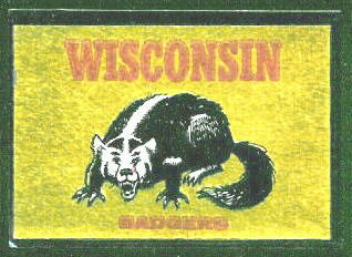 Wisconsin Badgers 1960 Topps Metallic Stickers football card