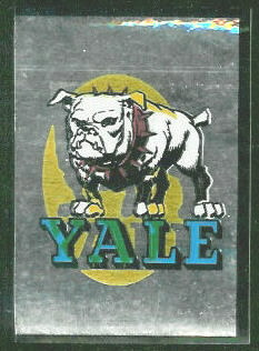 Yale Bulldogs 1960 Topps Metallic Stickers football card