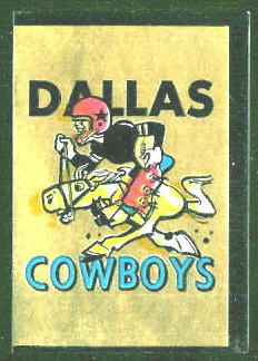 Dallas Cowboys 1960 Topps Metallic Stickers football card