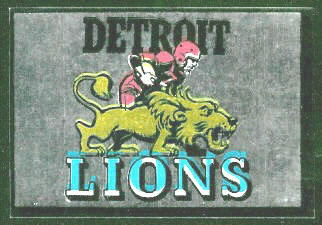 Detroit Lions 1960 Topps Metallic Stickers football card