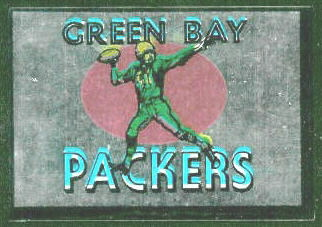 Green Bay Packers 1960 Topps Metallic Stickers football card