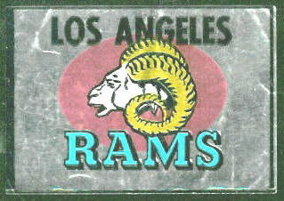 Los Angeles Rams 1960 Topps Metallic Stickers football card