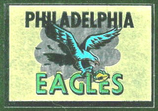Philadelphia Eagles 1960 Topps Metallic Stickers football card