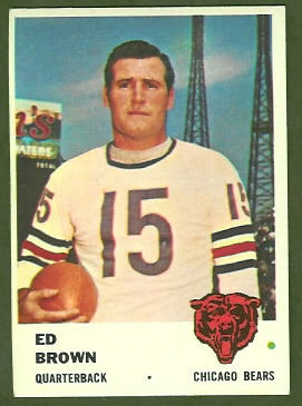 Ed Brown 1961 Fleer football card