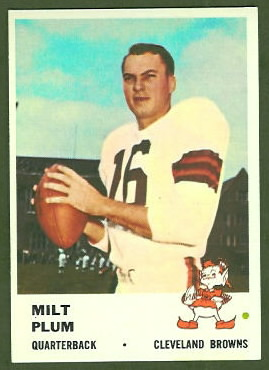 Milt Plum 1961 Fleer football card