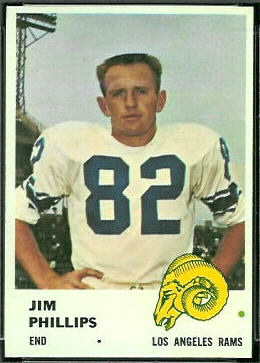 Jim Phillips 1961 Fleer football card