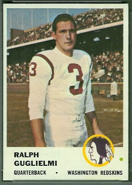 Ralph Guglielmi 1961 Fleer football card