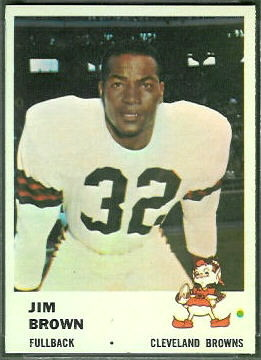 Jim Brown 1961 Fleer football card