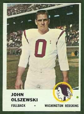 John Olszewski 1961 Fleer football card