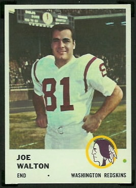 Joe Walton 1961 Fleer football card