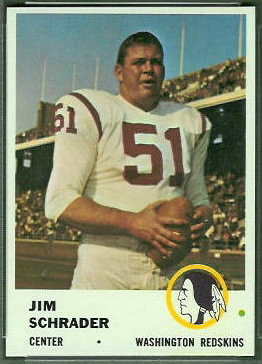 Jim Schrader 1961 Fleer football card