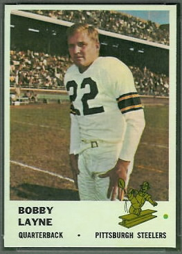 Bobby Layne 1961 Fleer football card